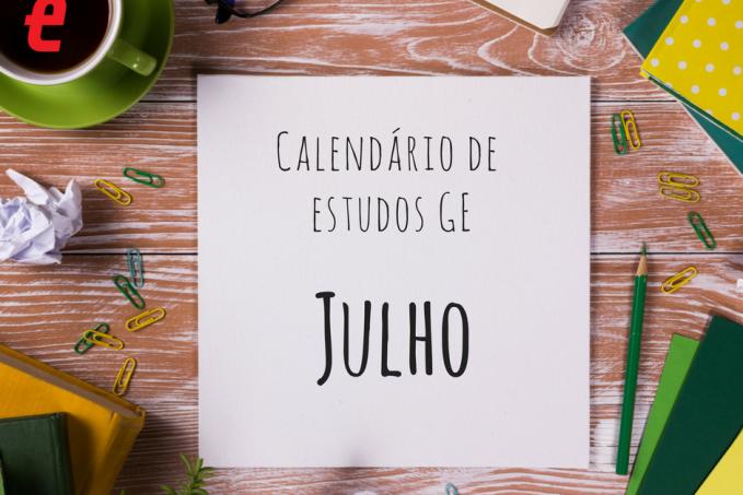 Calendario de julho