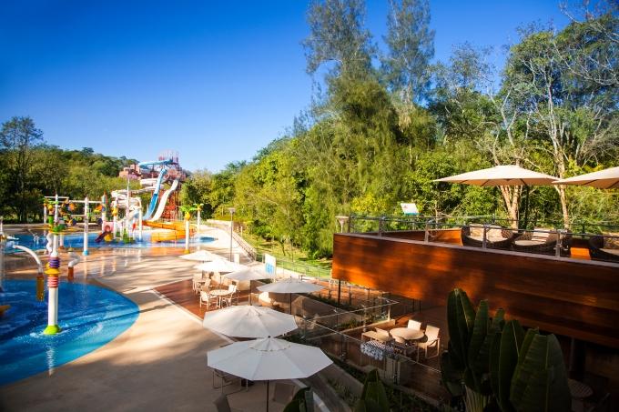 Complexo de lazer e parque aquático do Grande Hotel São Pedro, o hotel-escola do Senac.