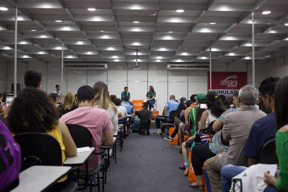A Feira Guia do Estudante 2017 rolou entre os dias 14 e 16 de setembro no Anhembi, em São Paulo. Os visitantes puderam conferir palestras, simulados, jogos, testes vocacionais, dicas de estudo, orientação vocacional, informações de cursos no exterior, dicas de financiamento estudantil, oficinas profissionais e muito mais.
