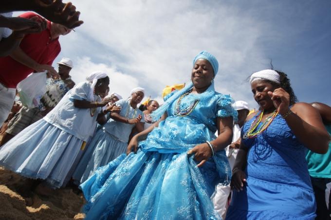 Religião de matriz africana.Oferenda a Iemanjá