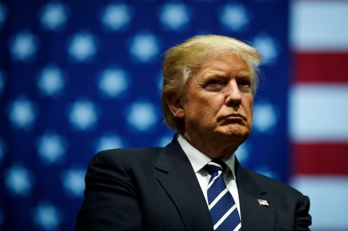 Presidente dos Estados Unidos, Donald Trump, bandeira americana