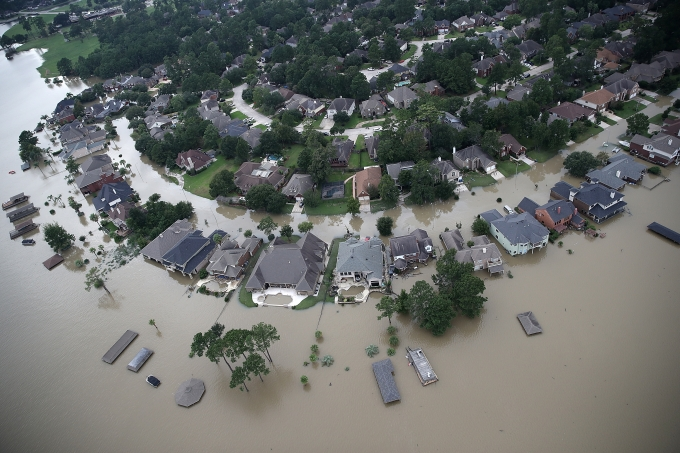 Inundação em Houston após o furacão Harvey