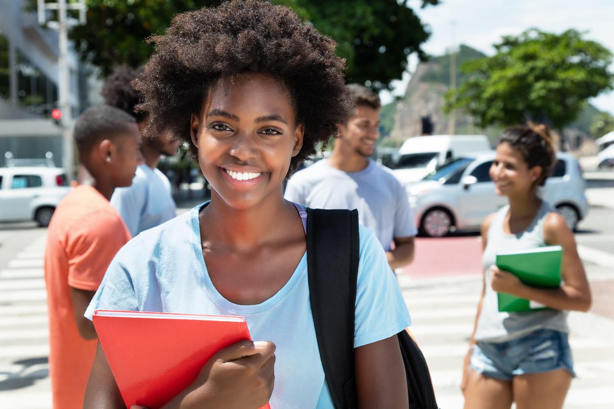 Estudante brasileira