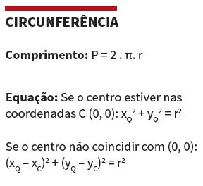 Fórmulas de geometria