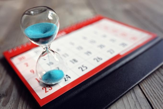 calendário prazo