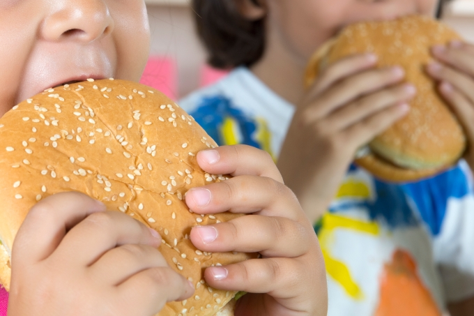 obesidade infantil – hamburguer