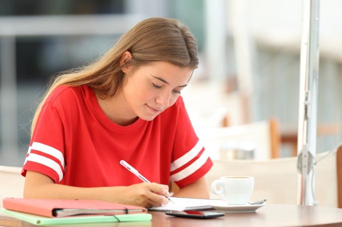 redação – estudante – estudar