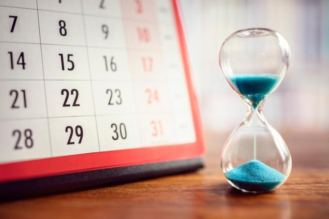 ampulheta – calendário