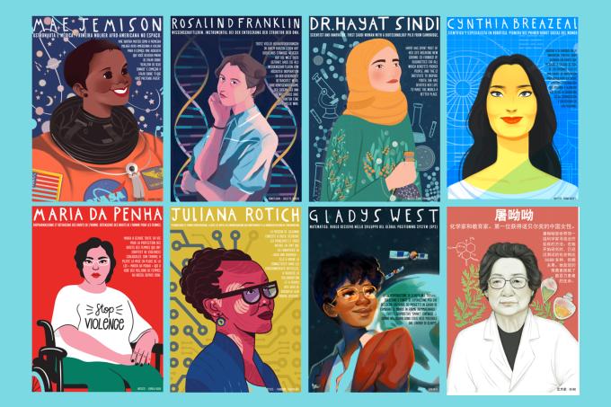 [post parceiro] Pôsteres destacam o trabalho de mulheres na ciência e na tecnologia