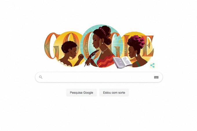 Doodle homenageia aniversário de Maria Firmina dos Reis