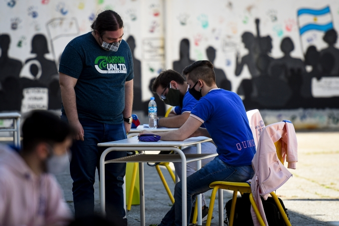 Schools Start To Partially Reopen In Buenos Aires Amid Coronavirus Pandemic
