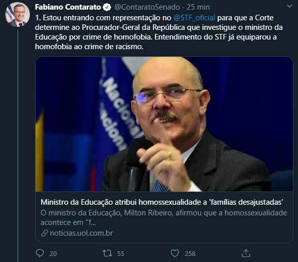 Twitter de Fabiano Contarato