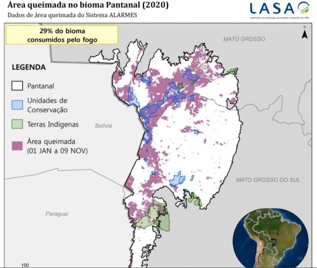 Queimadas no Pantanal em 2020