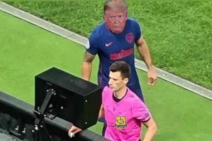 Meme Trump reclama o resultado das eleições americanas no VAR