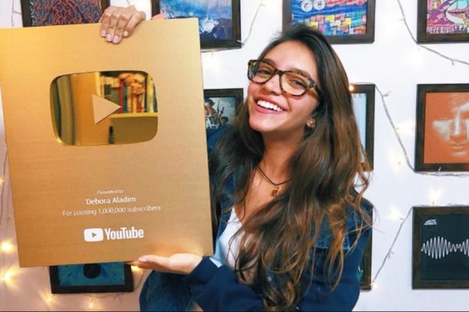Débora Aladim player de ouro no YouTube divulgação