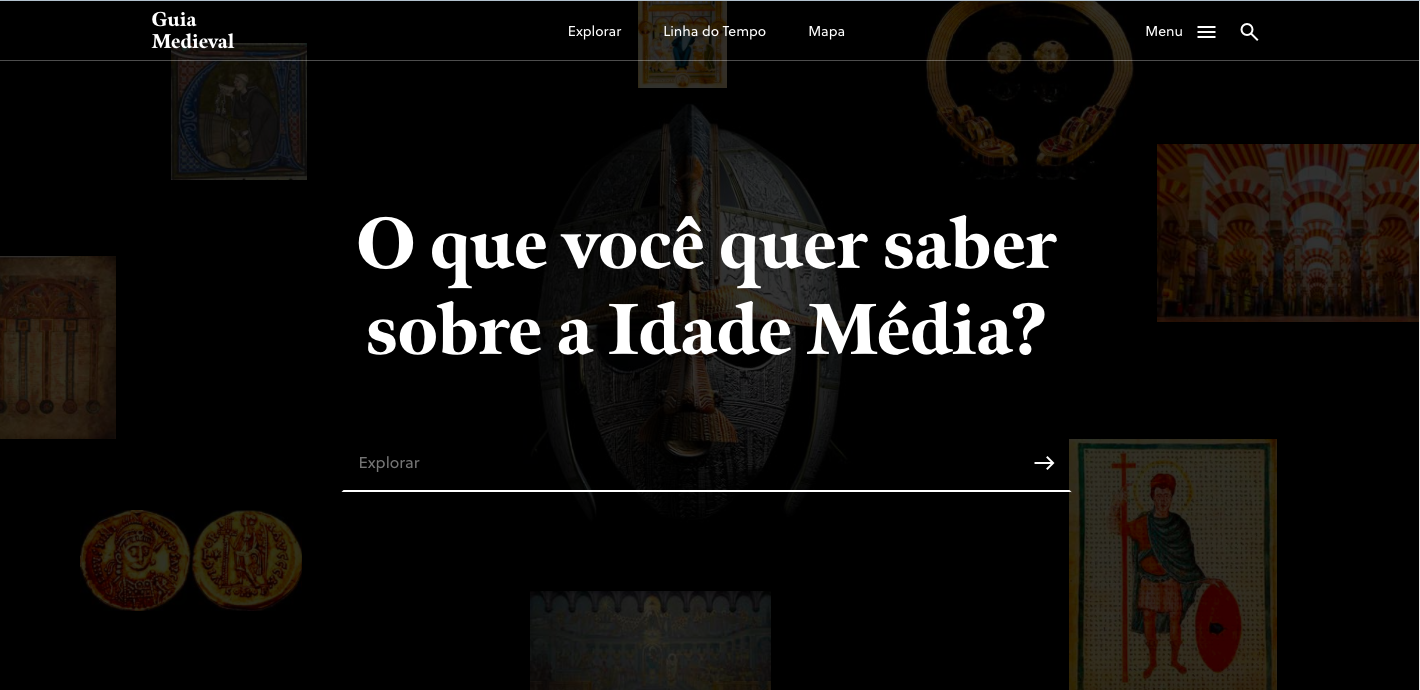 Homepage do Guia Medieval.
