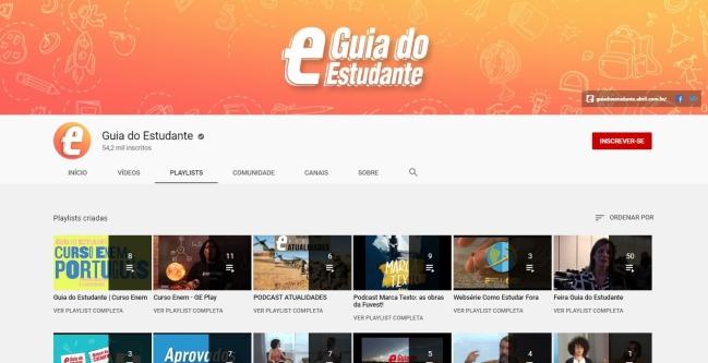 Canal do YouTube do Guia do Estudante