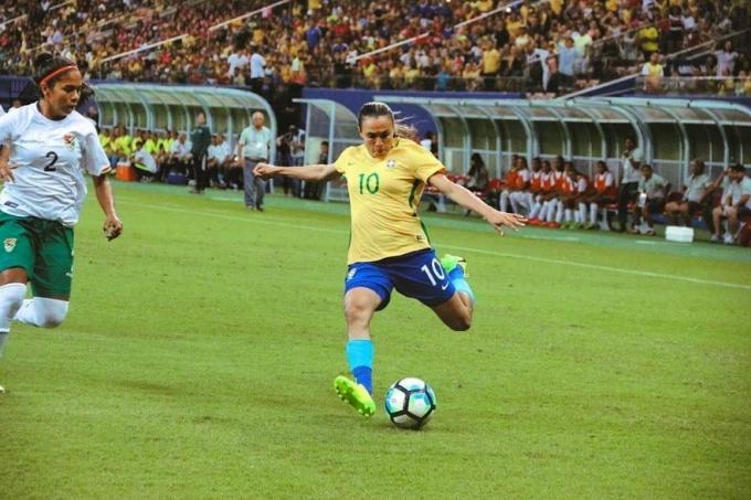 Marta na seleção brasiliera de futebol