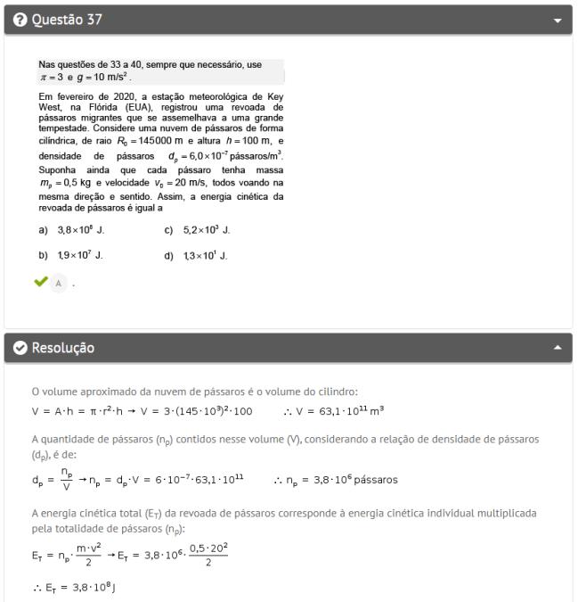 Questão de física