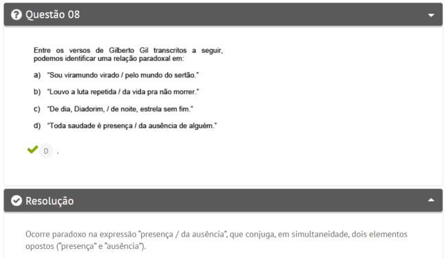 Questão de português
