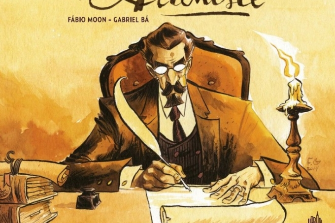 O Alienista – ilustração de Gabriel Bá e Fabio Moon para o conto de Machado de Assis