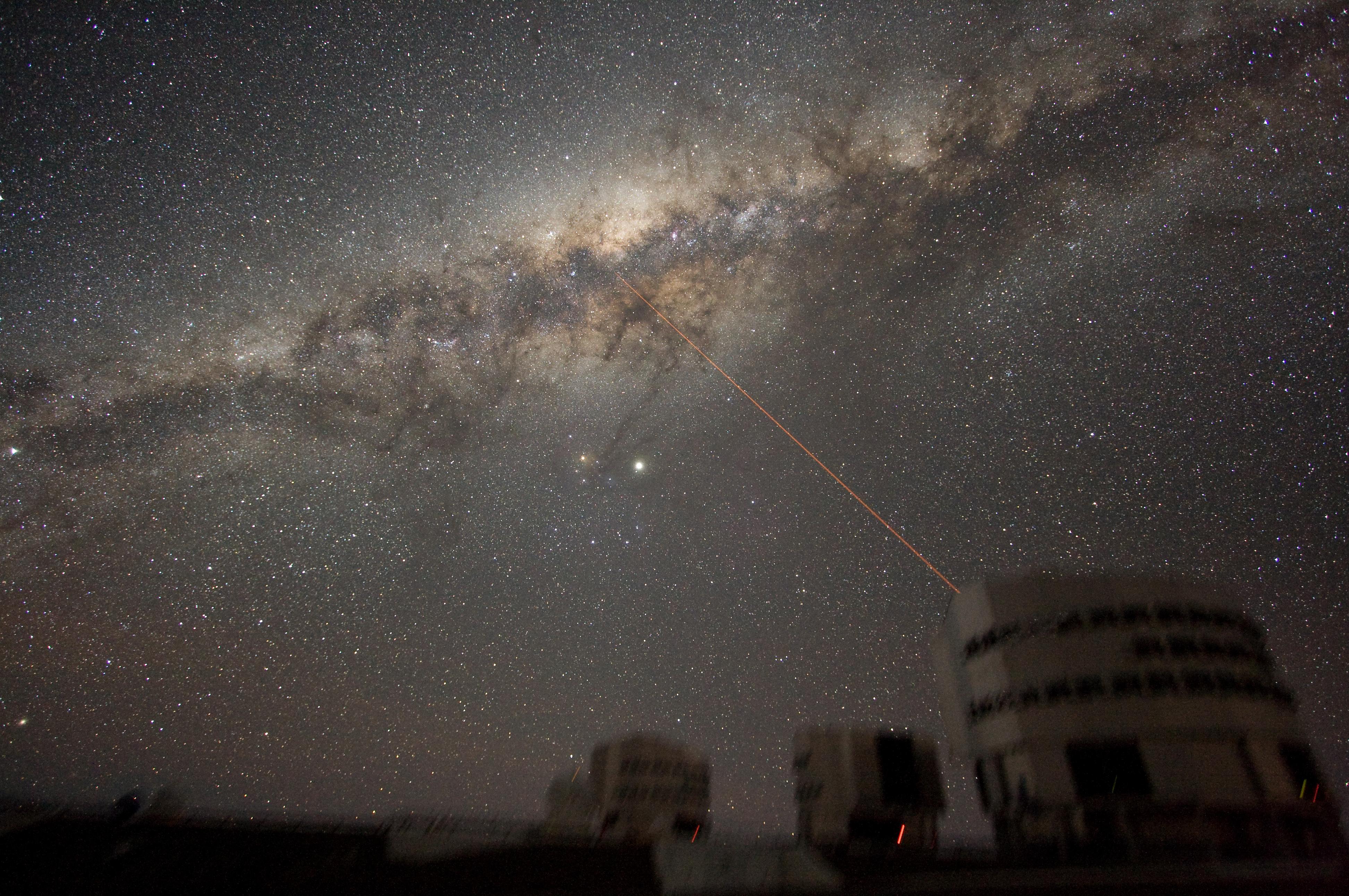 A via Láctea vista de Paranal, no Chile.