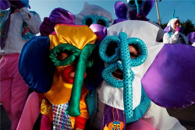 Personagem Marimondas no Carnaval de Barranquilla.