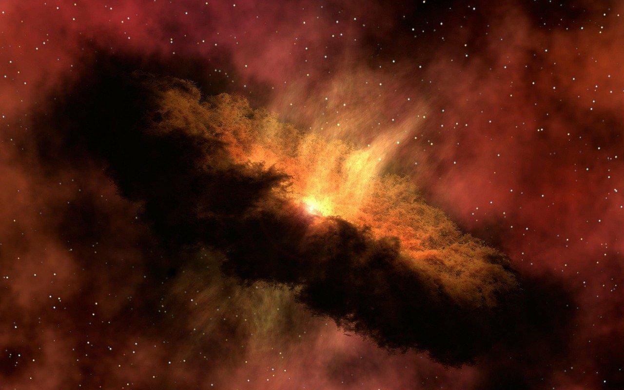 Uma representação artística do que se imagina ter sido o Big Bang.
