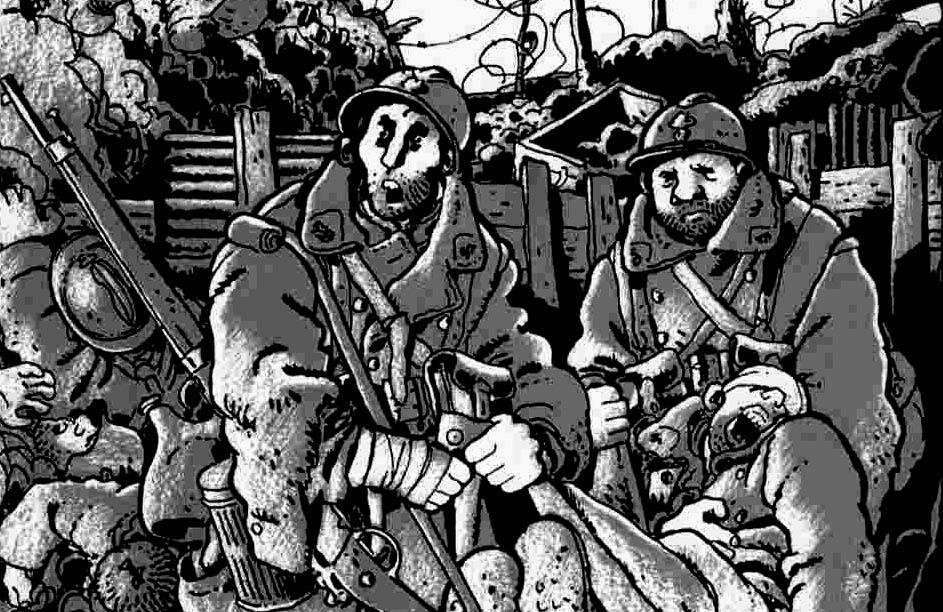 Era a Guerra de trincheiras, de Tardi