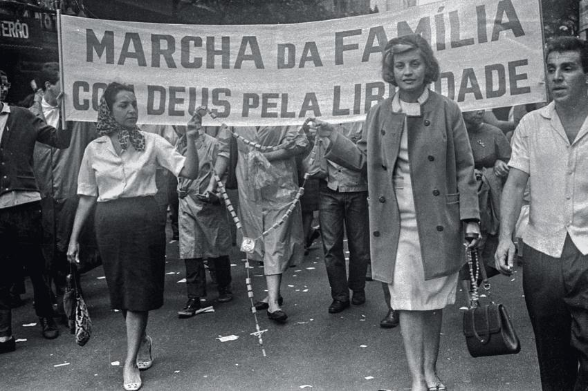 Mulheres católicas na marcha de 1964