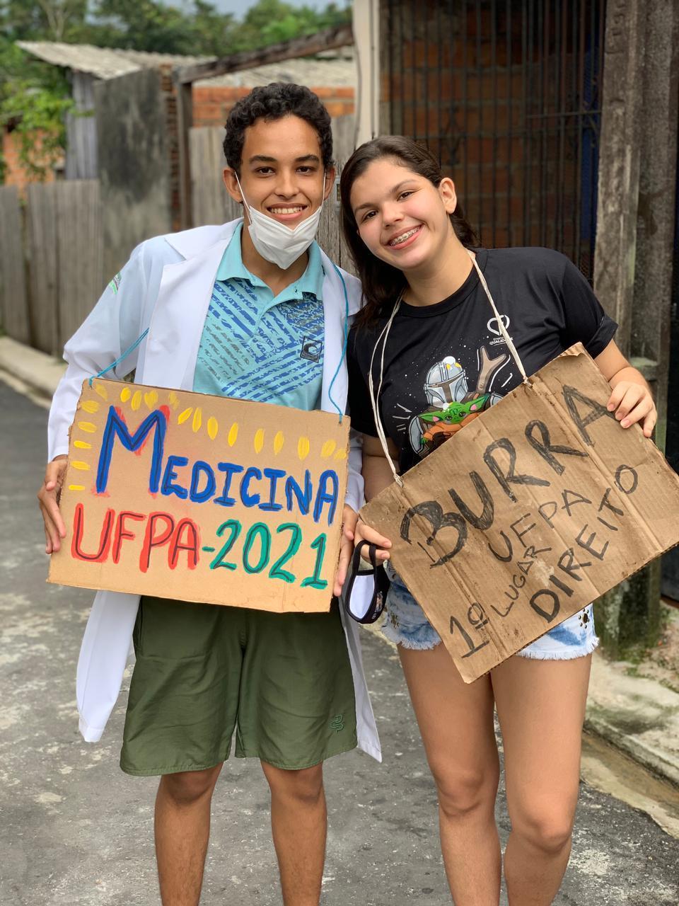 A periferia venceu: Adailson Moura e Samira Oliveira são os novos calouros da UFPA em 2021