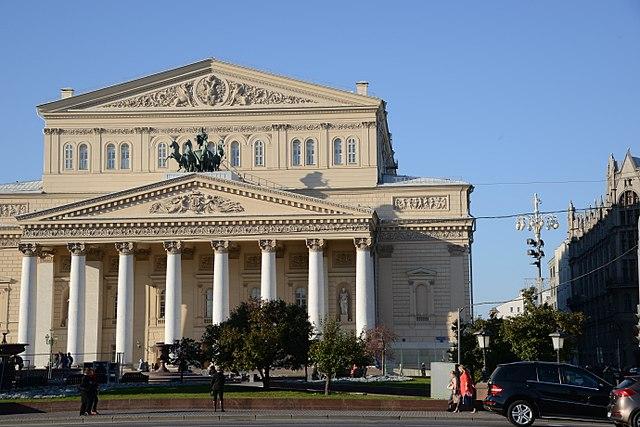 Frente do Teatro Bolshoi, em Moscow