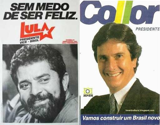 Em 1989, Lula é derrotado por Fernando Collor de Melo na campanha para presidente da República.
