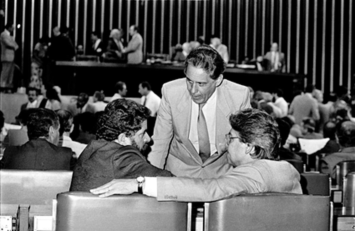 FHC, Lula e Mario Covas na Câmara dos Deputados