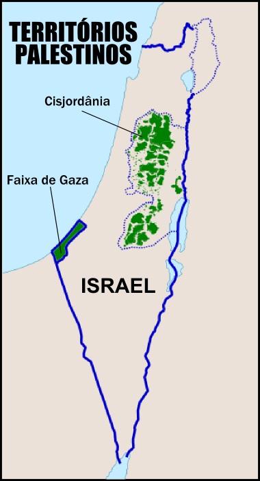Territórios palestinos hoje: Faixa de Gaza e a Cisjordânia
