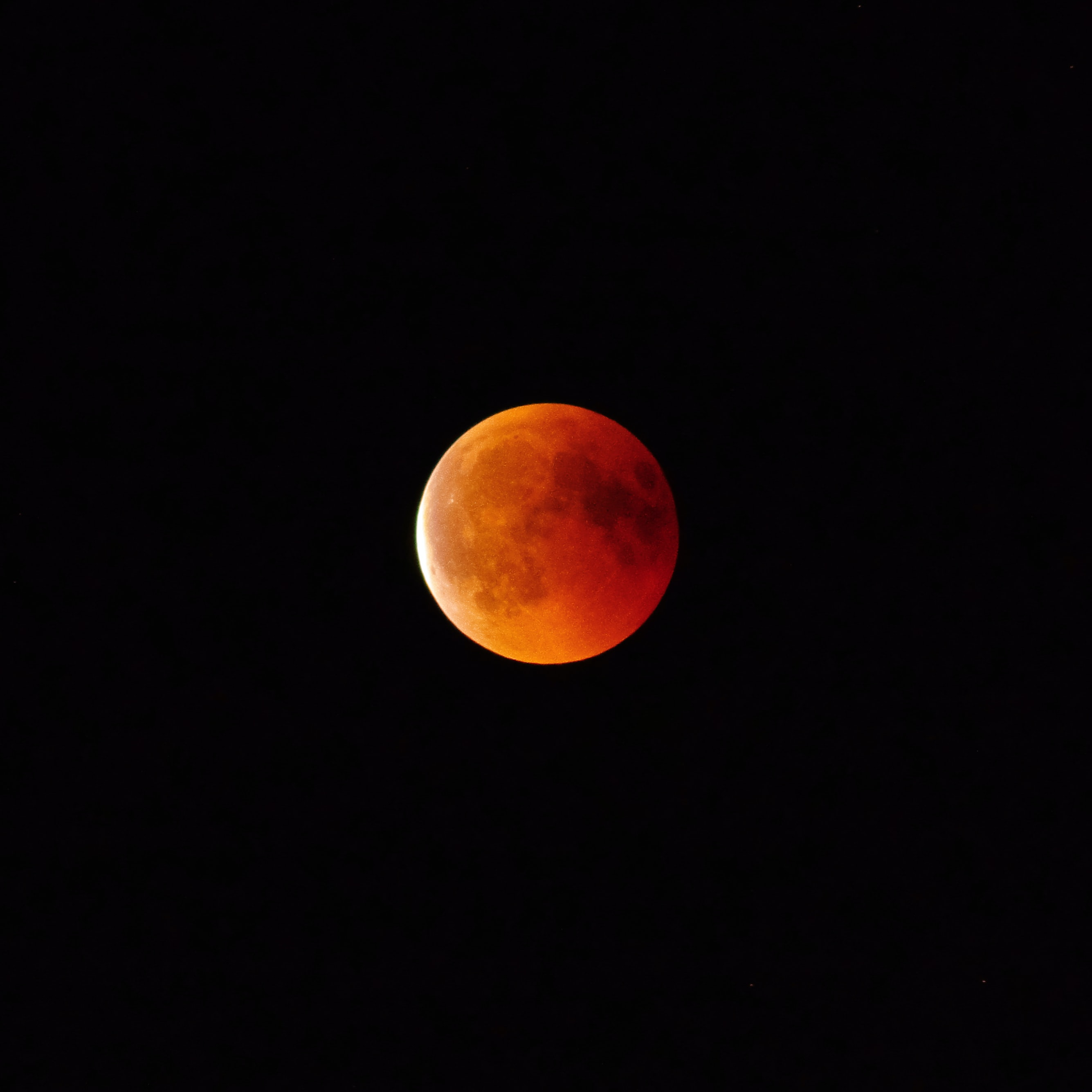 Lua de sangue vista da Alemanha, em 2018