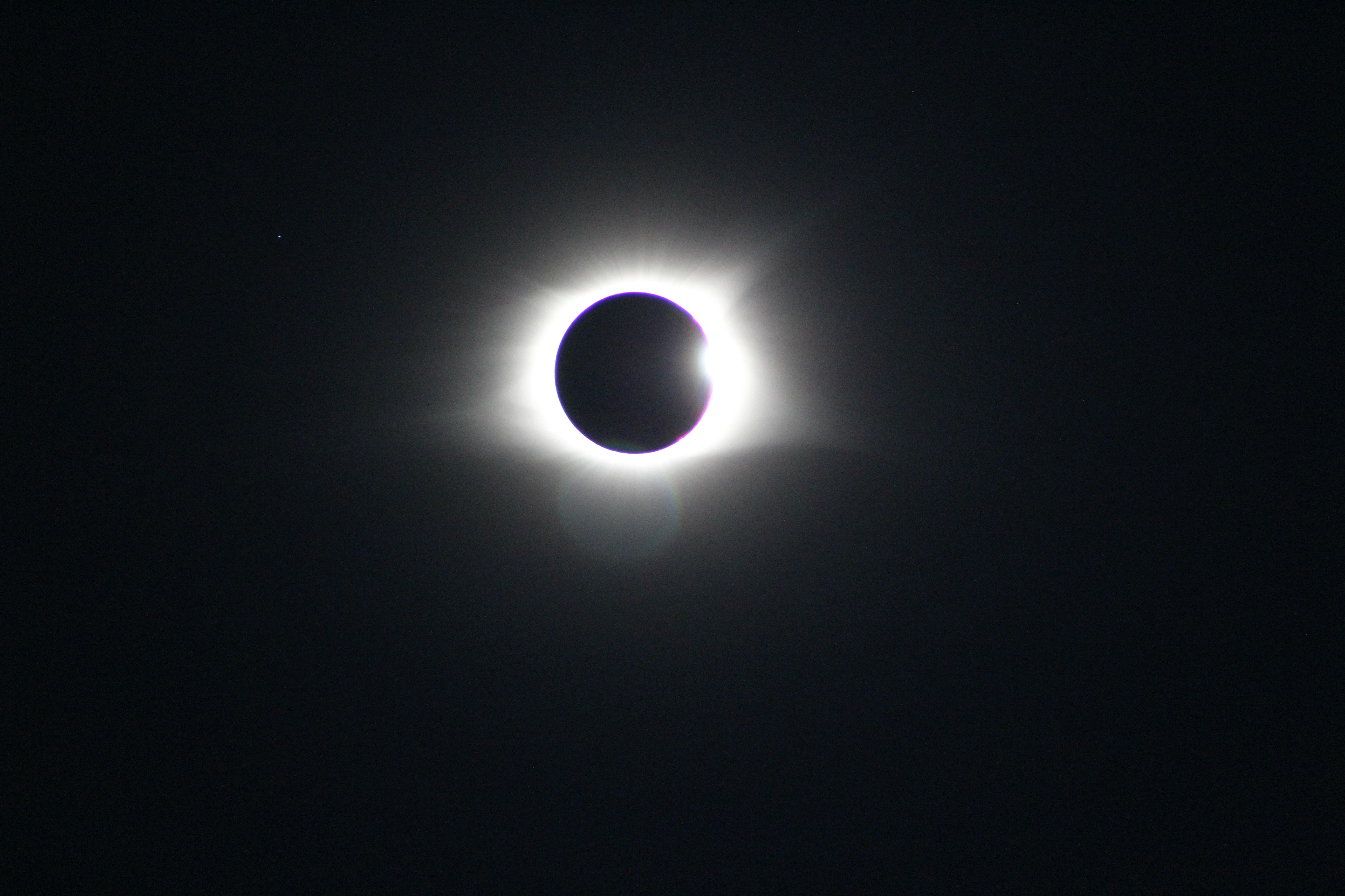 Eclipse solar registrado a partir da Clemson University, EUA, em 2017