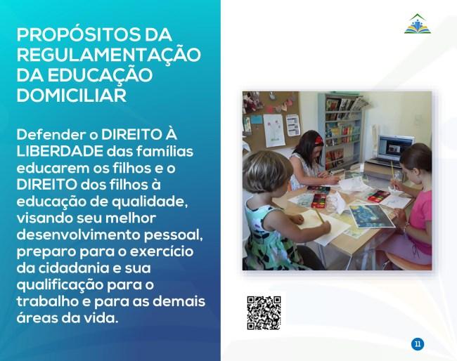 Página 11 da Cartilha Educação Domiciliar: um Direito Humano tanto dos pais quanto dos filhos.
