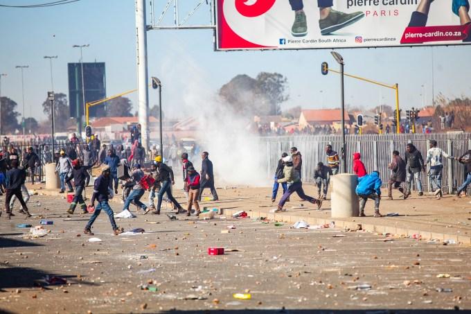 Protestos na África do Sul