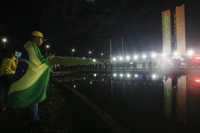 Protestors Rally Against Brazilian Pres. Dilma Rousseff In Brasilia