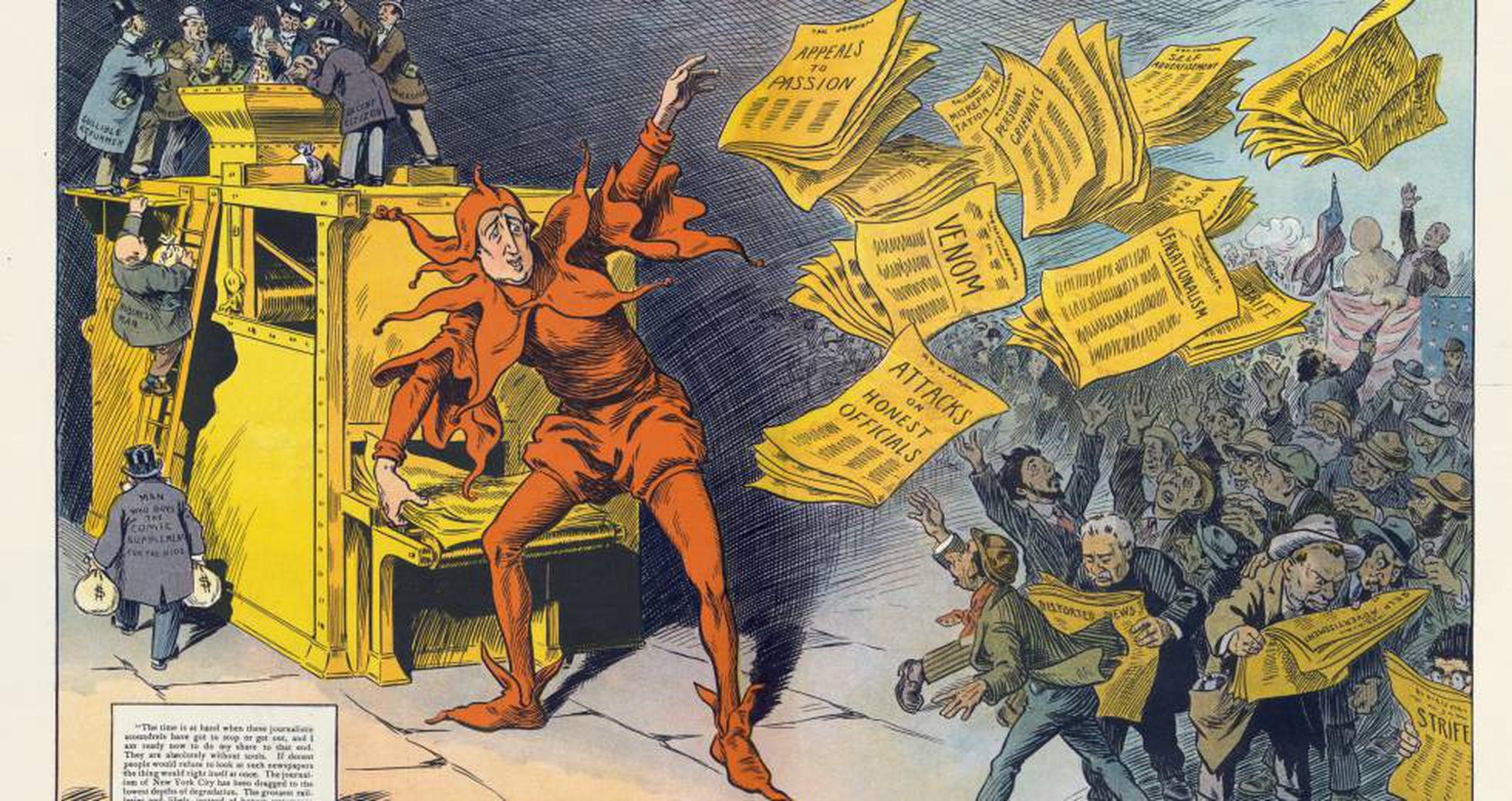 Ilustração sobre imprensa amarela