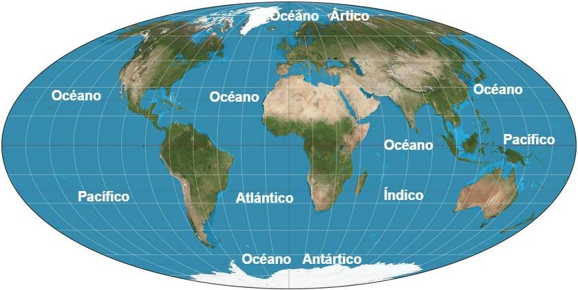 Mapa Oceanos