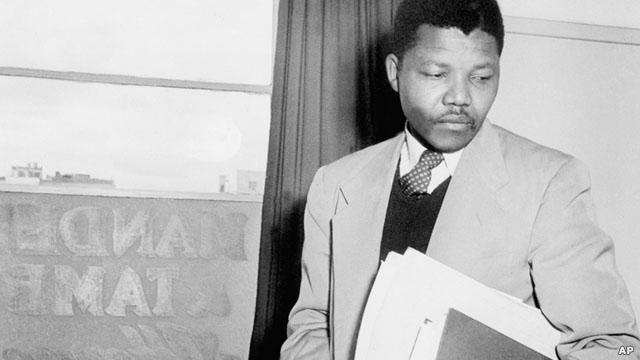 O jovem Nelson Mandela