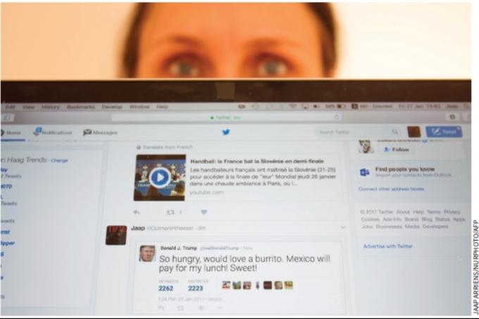 Perfil falso de Donald Trump no Twitter