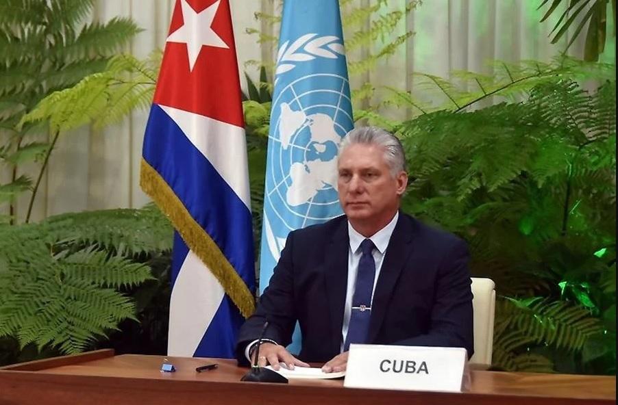 Presidente Miguel Díaz-Canel falou em 'asfixia econômica para provocar revoltas sociais'; Joe Biden rebateu as acusações afirmando que a população cubana clama por 'liberdade e alívio'
