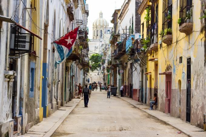 Rua de Havana em Cuba