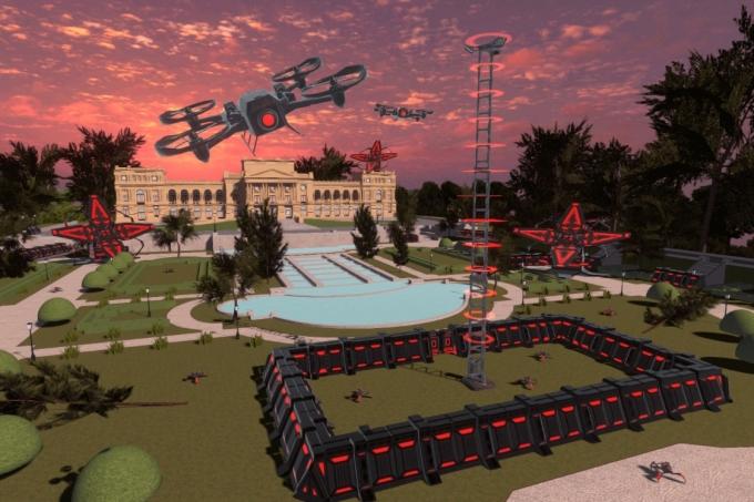 Cena do game Museu do Ipiranga em Defesa