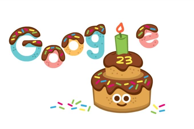 Doodle do Google no aniversário de 23 anos