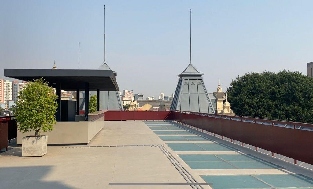Terraço do Museu da Língua Portuguesa.