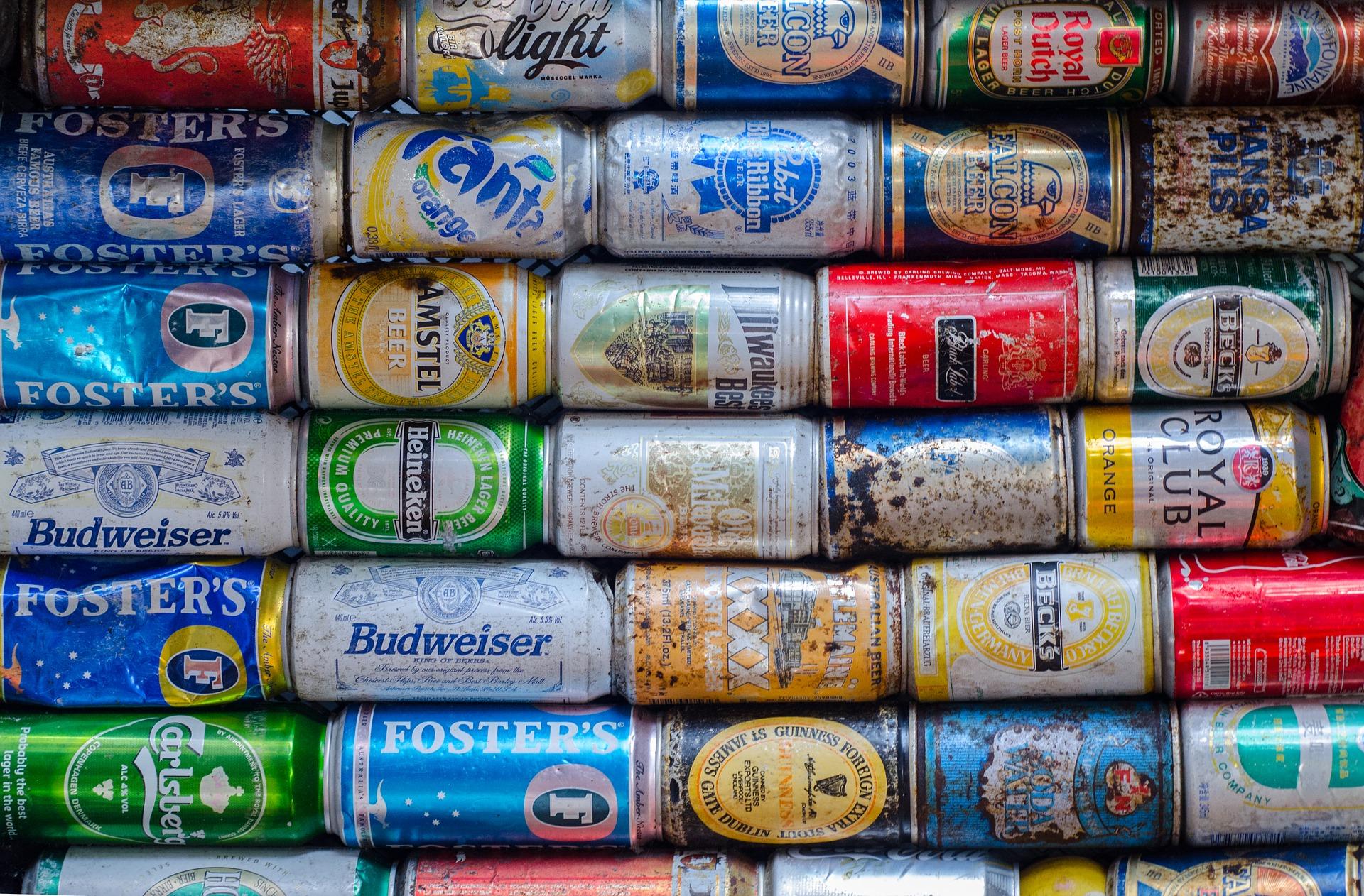 latinhas de cerveja